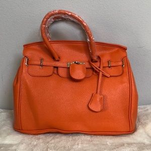 Handbags - Brand New Orange Birkin-Style handbag